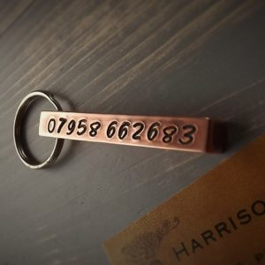 Copper Bar Keyring