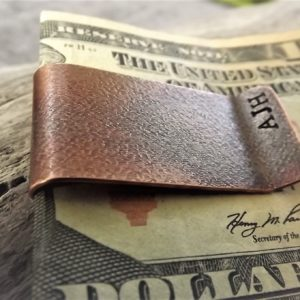 Raw Silk Copper Money Clip