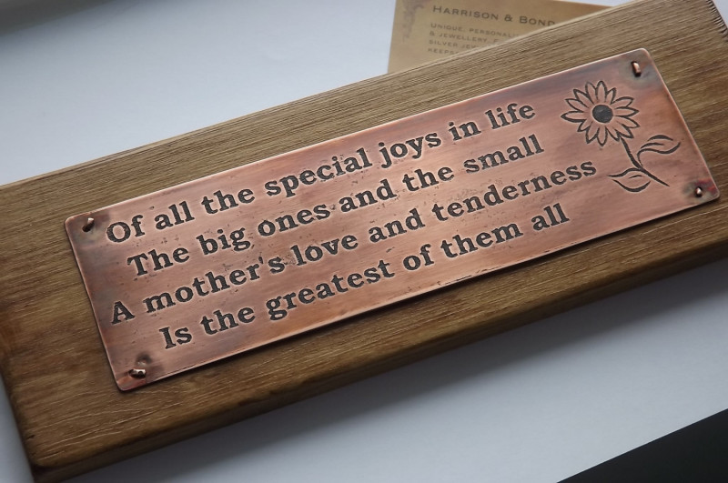 mother copper plaque mother s day gifts